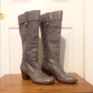 """Coach """"Fayth"""" Leather Boots - Grey Size 10"""